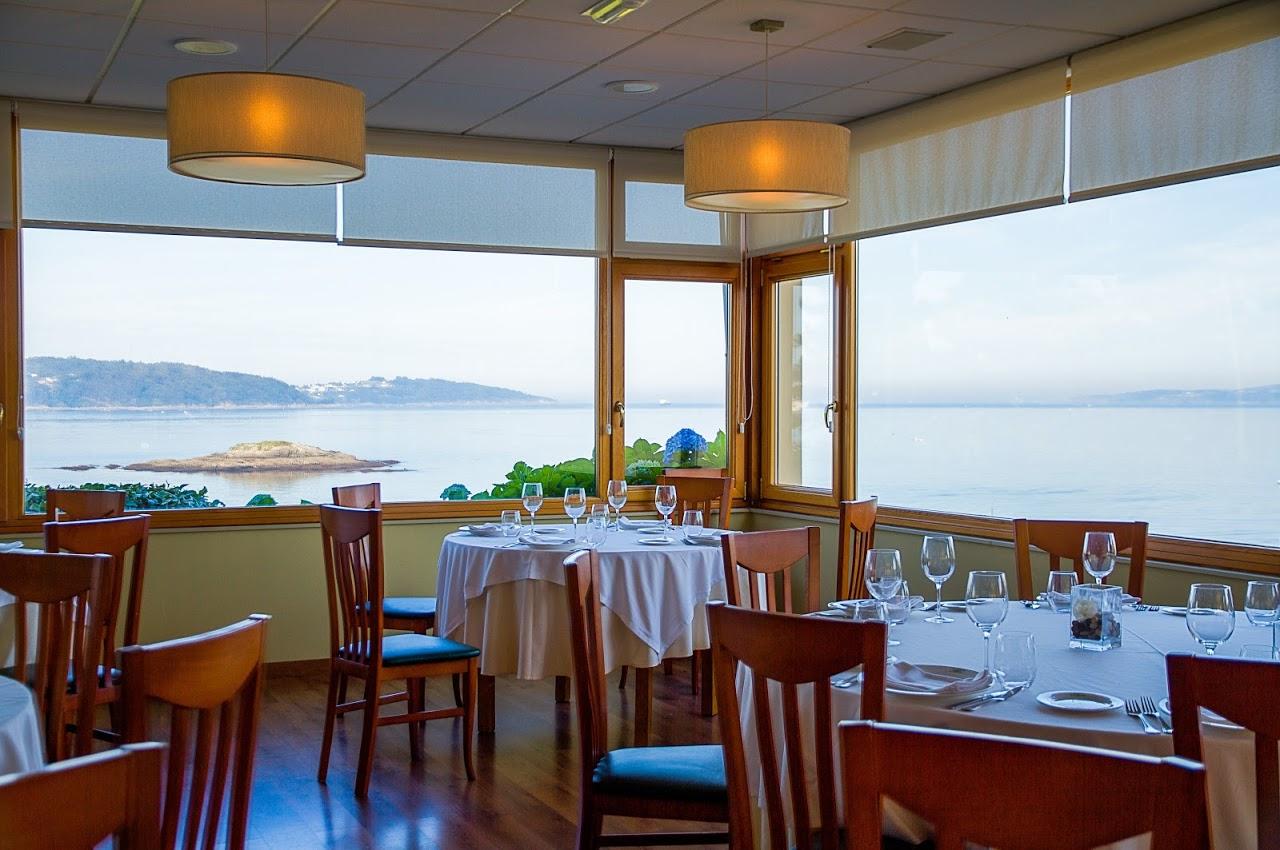 Restaurante de marisco el Pinar en Perbes, Miño.