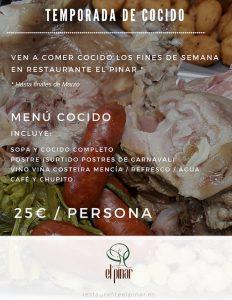 Restaurante El Pinar A Coruña: temporada de cocido